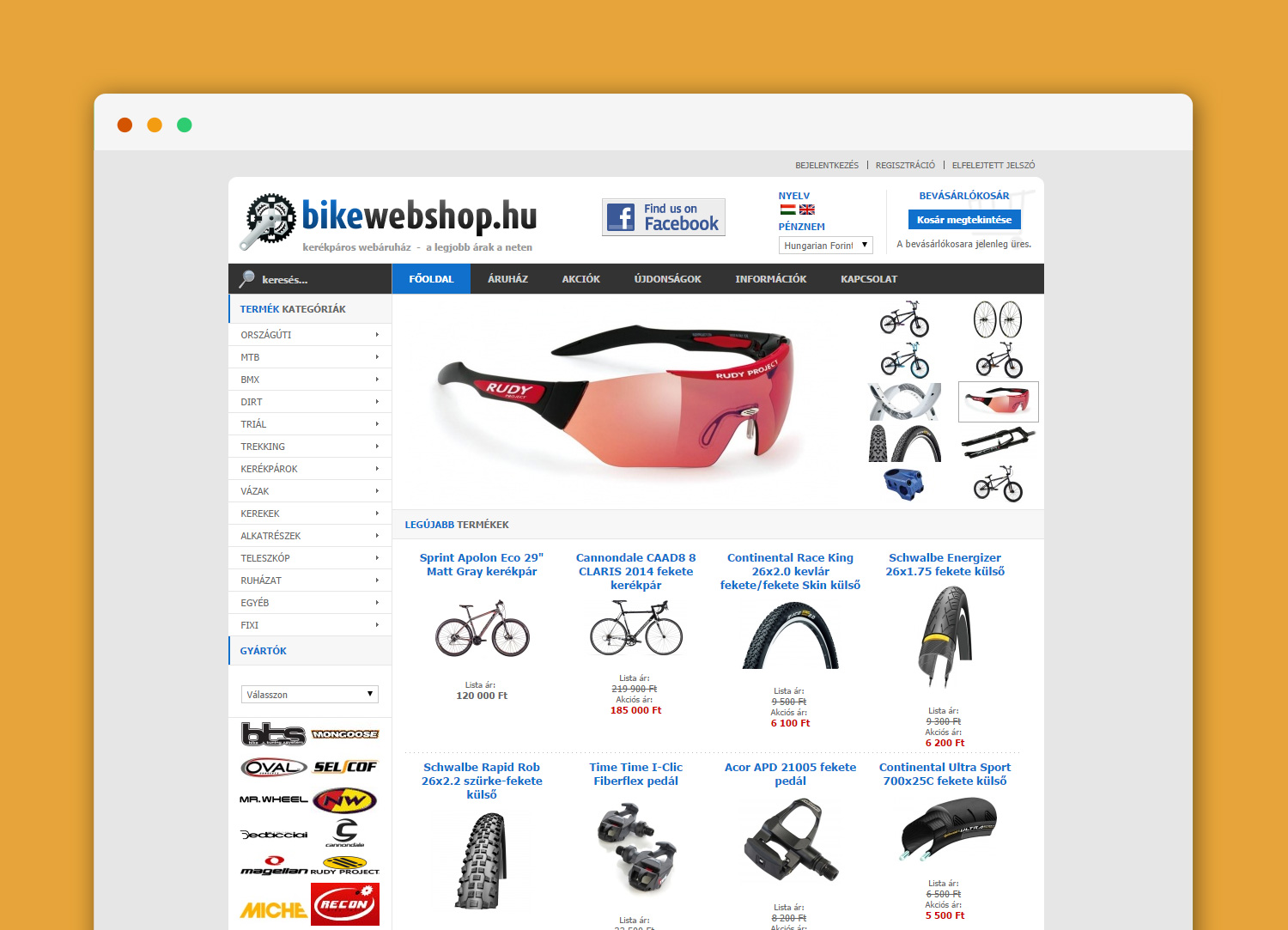 bikewebshop.hu website